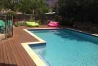 pool decking hardwood