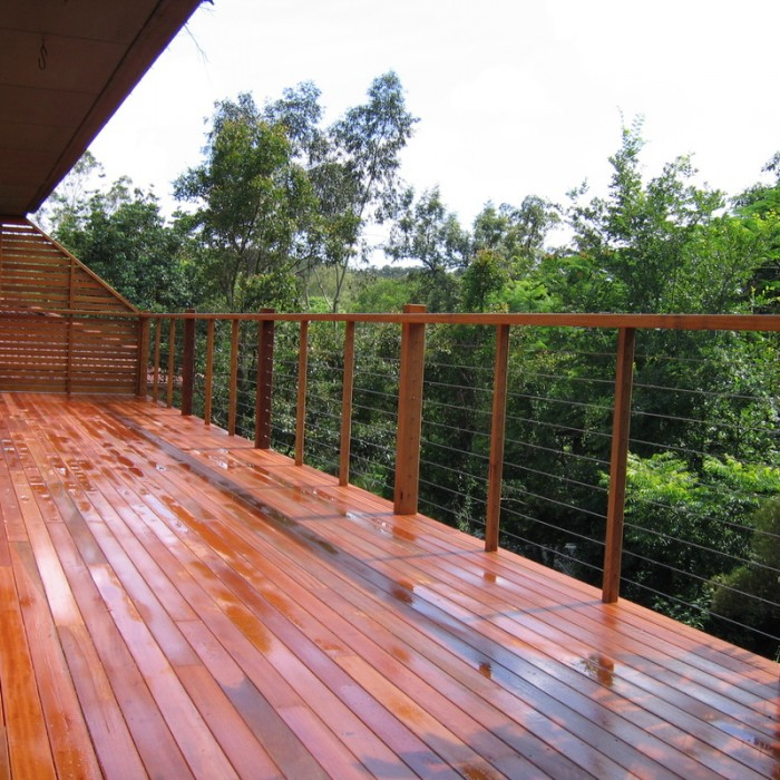 how to re-stain a deck