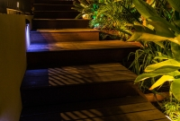 Hardwood timber deck stairs by All We Do Is Decks