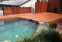 pool deck & privacy fence