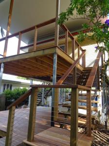 double storey deck