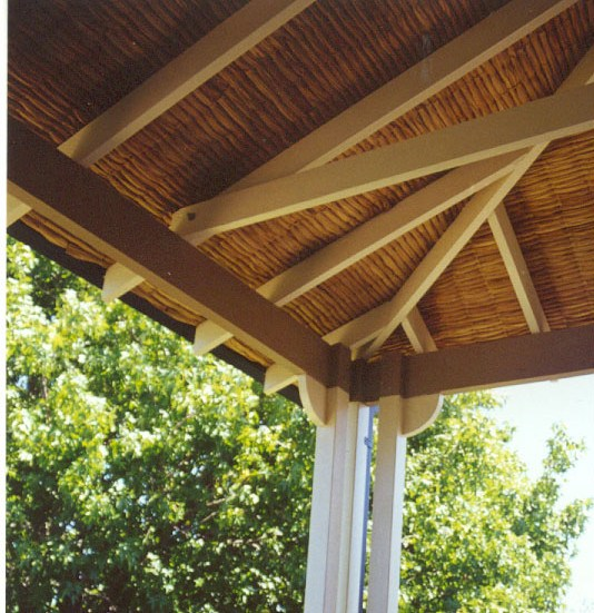 deck ceiling ideas palm fibre