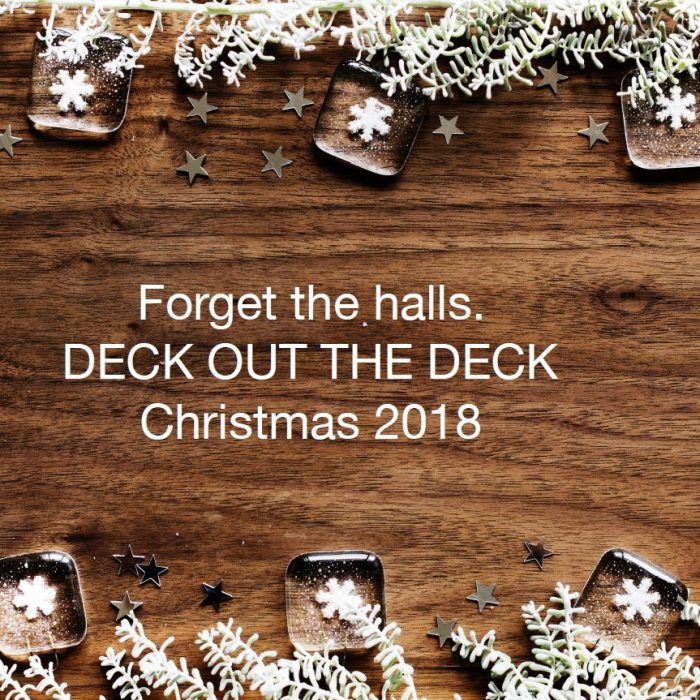 deck out your deck at christmas